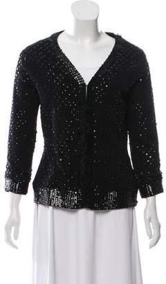 Milly Embellished Knit Cardigan