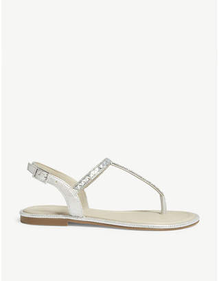 Aldo Sheeny embellished flat sandals