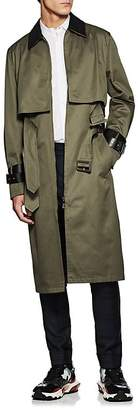 Valentino MEN'S COTTON DOUBLE-BELTED TRENCH COAT