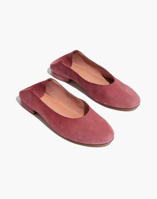 Madewell The Sophia Fold-Down Flat in Suede