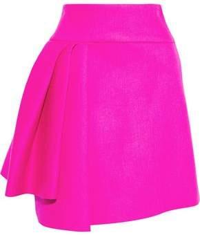 Milly Pleated Neon Neoprene Mini Skirt