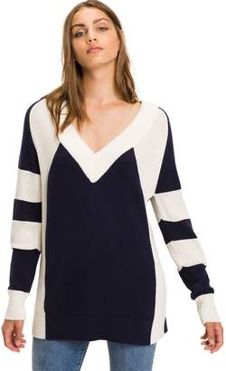 Tommy Hilfiger Block Stripe V-Neck Sweater