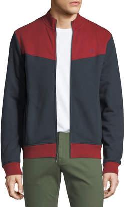 Original Penguin Penguin Men's Colorblock Heavyweight Fleece Zip-Front Jacket