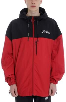Off-White Off White Red/black Nylon Windbreaker Jacket