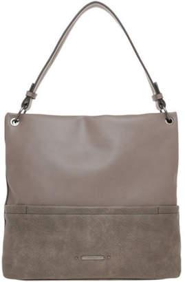 Basque NEW Mia Shoulder Strap Hobo Bag Grey