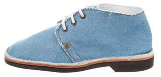 Brother Vellies Denim Lace-Up Booties