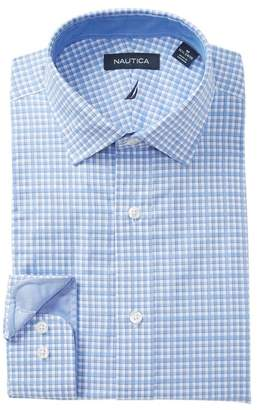 Nautica Small Check Traditional Fit Dress Shirt