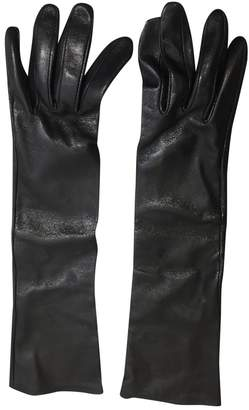 Agnelle Leather long gloves