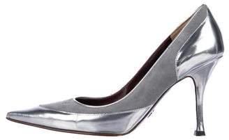 Dolce & Gabbana Metallic Patent Leather Pumps