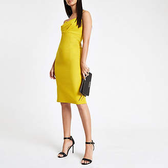River Island Womens Yellow tulip style bodycon midi dress