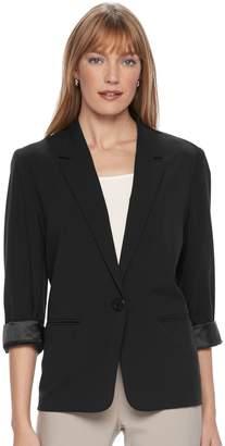 Dana Buchman Women's Cuffed Boyfriend Jacket