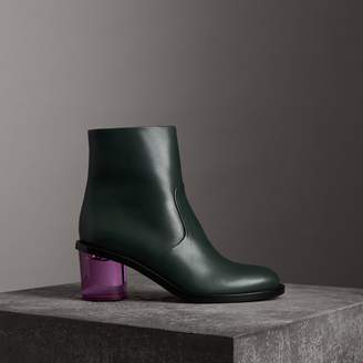 Burberry Two-tone Leather Block-heel Boots