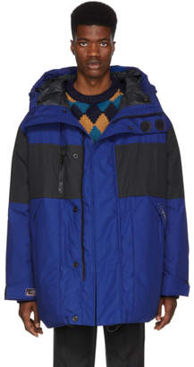Lanvin Blue Oversized Down Puffer Jacket