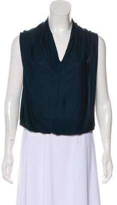 Lanvin Cap Sleeve Cowl Neck Top