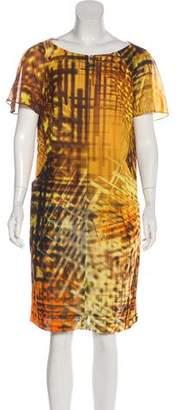 Akris Knee-Length Printed Dress
