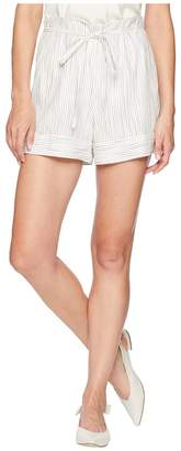 Vince Camuto Ticking Stripe Belted Cuffed Shorts Women's Shorts