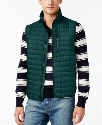 Tommy Hilfiger Men's Metallic Insulator Quilted Vest $99 thestylecure.com