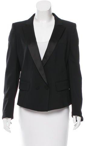 Louis VuittonLouis Vuitton Wool Satin-Trimmed Blazer w/ Tags