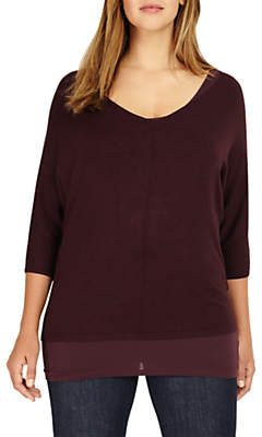 Studio 8 Carmen Knit Jumper, Deep Wine