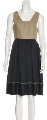 Derek Lam Linen Sleeveless Dress Black Linen Sleeveless Dress