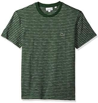 Lacoste Men's Short Sleeve Jersey Jacquard Regular Fit T-Shirt