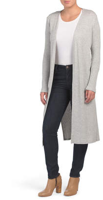 Kim & Cami Made In Usa Long Sleeve Rib Duster Cardigan