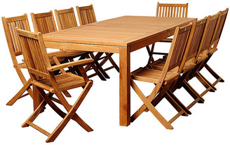 International Home Miami Blair 11-Pc Patio Dining Set - Natural