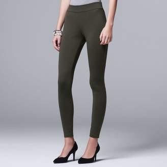 Vera Wang Women's Simply Vera Pull-On Ponte Skinny Pants