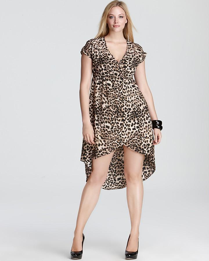 Love Ady Plus High Low Hem Animal Print Dress