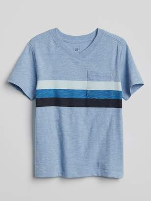 Gap Stripe V-Neck Pocket T-Shirt