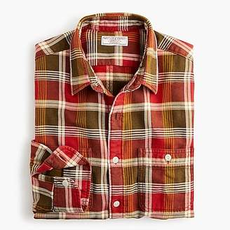 J.Crew Slim Wallace & Barnes midweight flannel shirt in rustic plaid