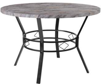 """Flash Furniture Tremont 45"""" Round Dining Table in Distressed Slate Finish"""