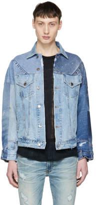 Amiri Indigo Reconstructed Denim Jacket