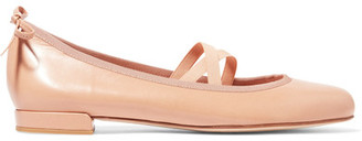 Stuart Weitzman - Bolshoi Leather Ballet Flats - Beige $375 thestylecure.com