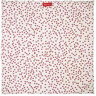 DEUZ Heart-Print Organic Cotton Floor Mat
