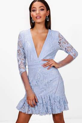 boohoo Boutique Myleene Stud and Lace Rara Dress
