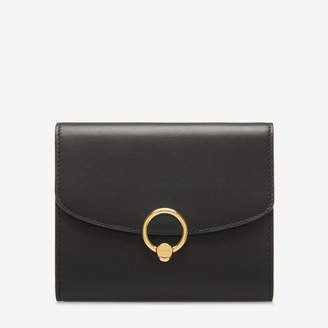 Bally Lapril Black, Women's plain calf leather wallet in black