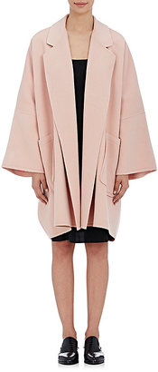 Helmut Lang Women's Brushed Melton Coat-RED $1,195 thestylecure.com