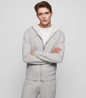 Reiss SHOOTER ZIP HOODIE Grey