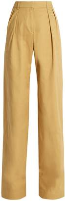 Palmer Harding PALMER/HARDING High-rise wide-leg stretch-cotton twill trousers