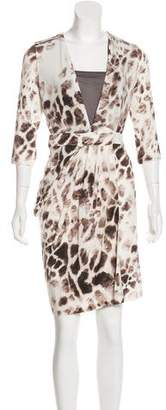 Just Cavalli Printed Mini Dress w/ Tags