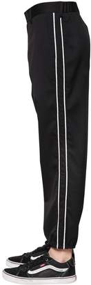 Diesel Side Bands Wool Twill Track Pants