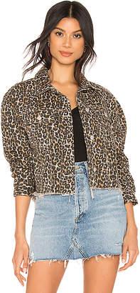Free People Cheetah Printed Denim Jacket.