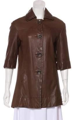 Vince Leather Short Coat