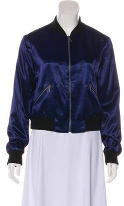 Alice + Olivia Zip-Up Bomber Jacket