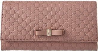 Gucci Bow Microguccisima Leather Continental Wallet