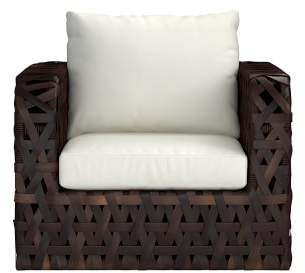 Williams-Sonoma Williams Sonoma Basket Weave Outdoor Lounge Chair