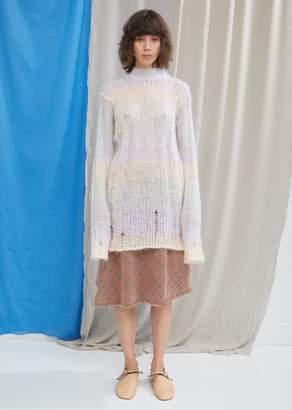 Acne Studios Mohair Stripe Crewneck Sweater