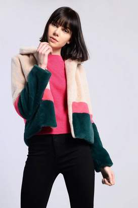 Glamorous **Multi Faux Fur Jacket