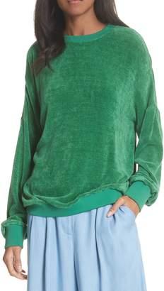 Tibi Chenille Crewneck Sweater
